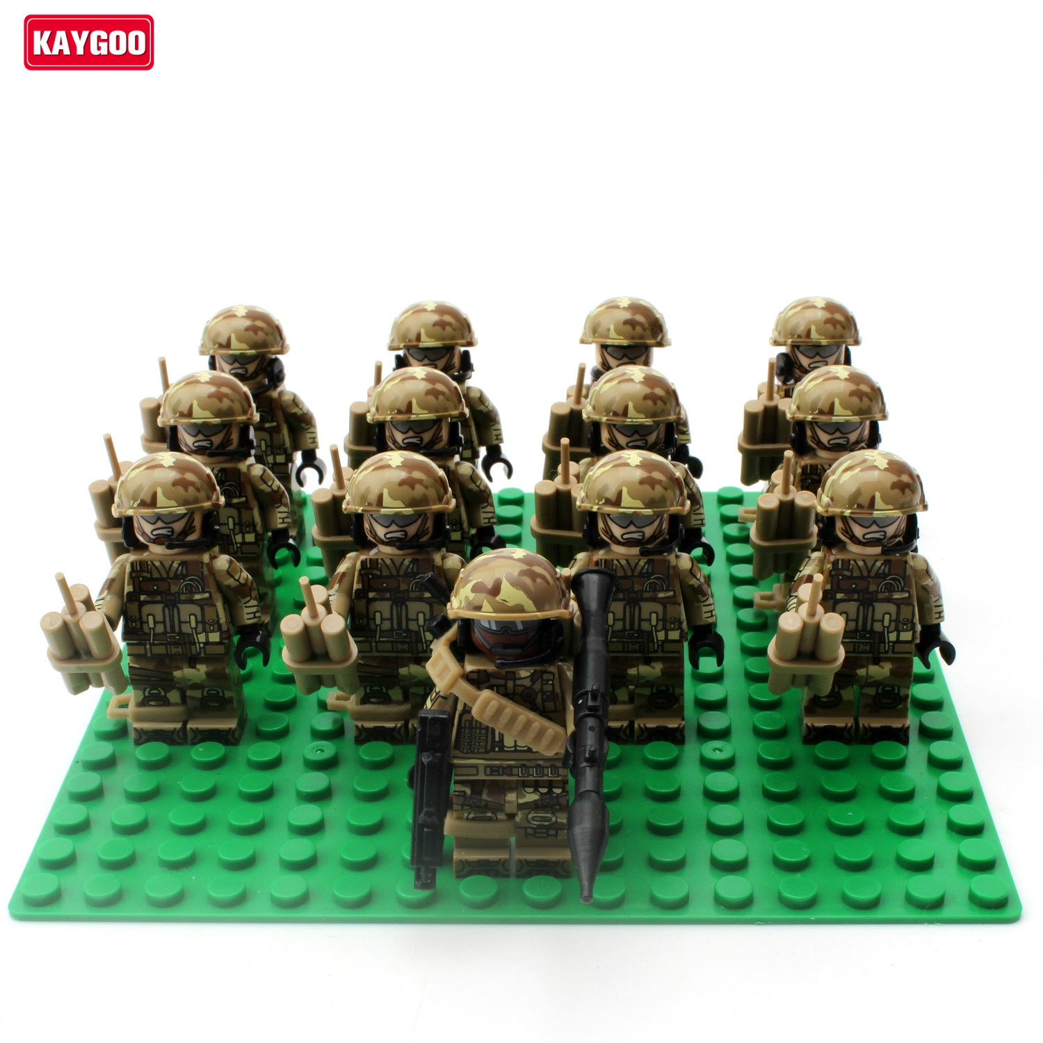 Kaygoo many Alloy Weapons SWAT military army sol rs building set