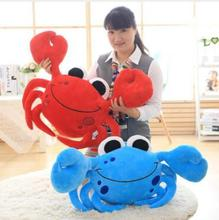 WYZHY Crab Red Blue Sofa Bed Cushion Pillow Creative Plush Toy Doll Gift 50cm