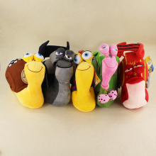 5 Styles Cute 3D Movie Turbo Racing League Plush soft stuffed Toys Snail Plush Doll for