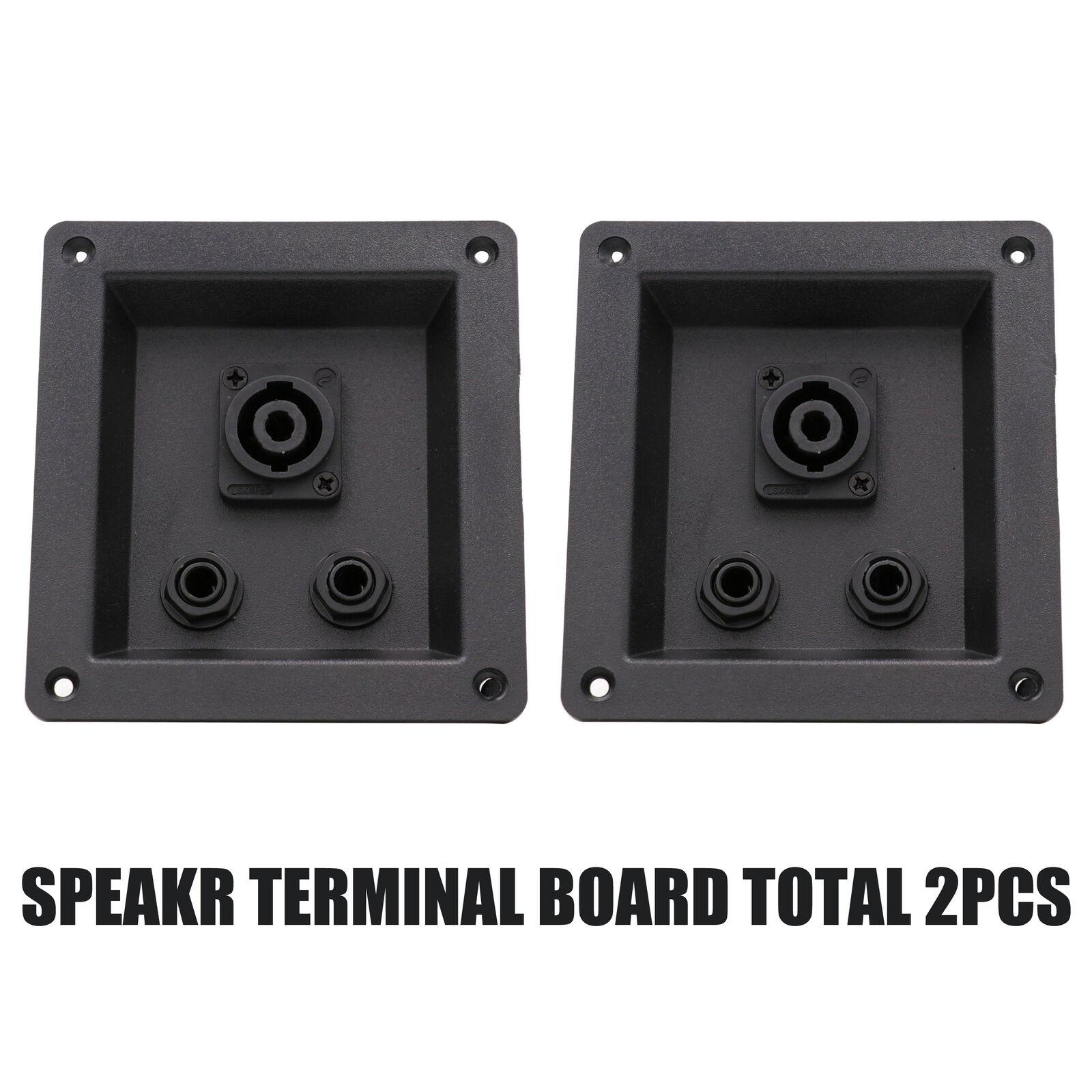 2PCS SPEAKER TERMINAL BOARD 109x99mm Plastic Stage Loudspeaker Jack Socket Board With Speakon Connector 1/4