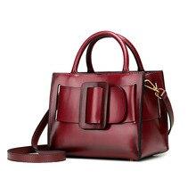 URSFUR Genuine Leather Women Top-Handle Bag Bowknot Messenger Handbag Retro Shoulder Crossbody Bag 2017 New Arrival famous brand
