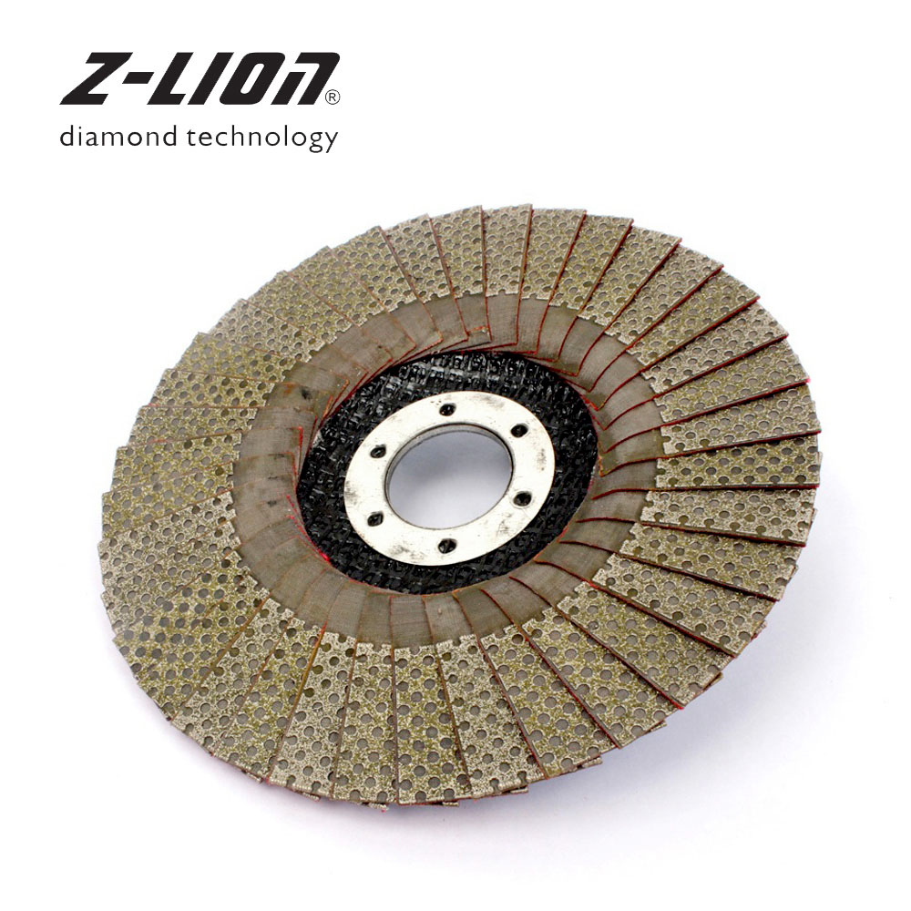 Z-LION 5 Inch 1pc 60/100/200/400 Grit Grinding Wheels 125mm Flap Sanding Abrasive Disc For Angle Grinder Diamond Sanding Pad diamond angle grinder wheel for glass ceramic grinding dia 100mm and 80mm hole 16mm abrasive pad 120 180 grit m007