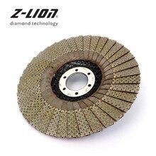 Z-LION 5 pouces 1 pc 60/100/200/400 meules abrasives 125mm disque abrasif abrasif à rabat pour meuleuse d'angle tampon de ponçage diamant