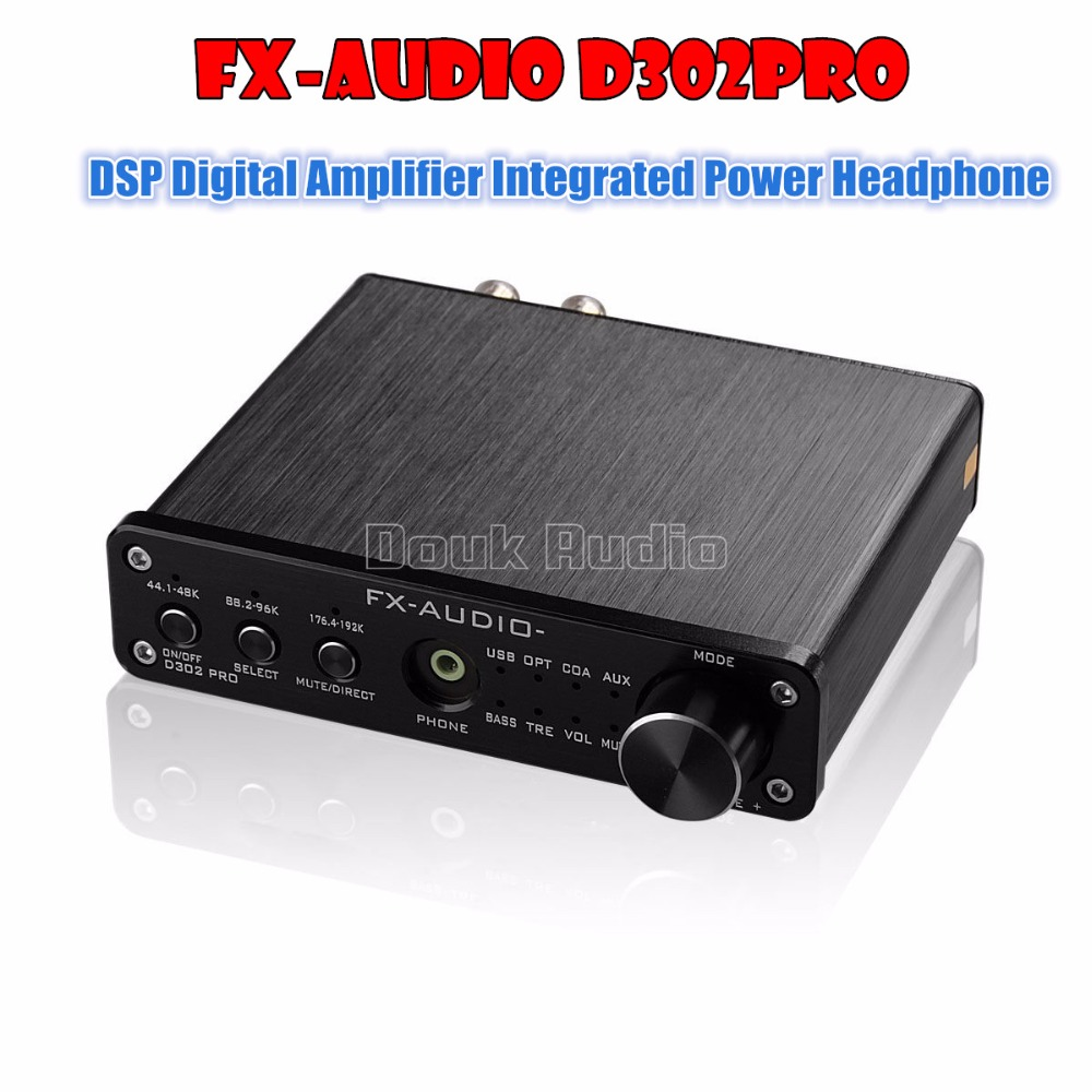 FX-Audio D302PRO Latest DSP Digital Amplifier Integrated Power Amp USB/OPT/COAX/AUX Input With Headphone Free Shipping 2017 new music hall integrated hifi high power digital amplifier u disk sd card pc usb bluetooth 4 0 free shipping