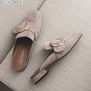 Women Slippers Slip On Mules F