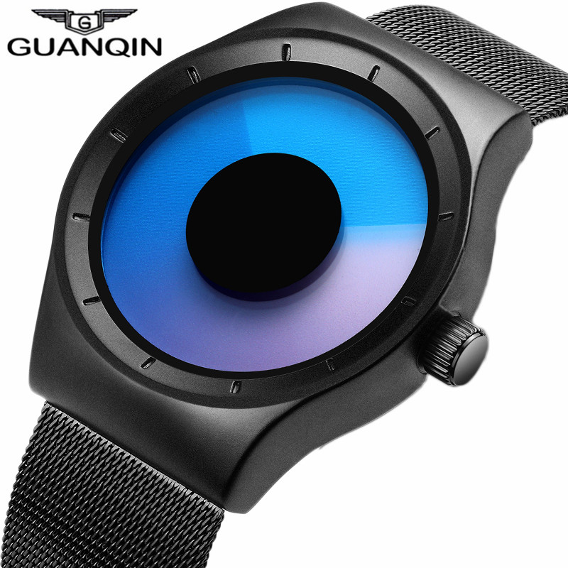 Mens Watches Top Brand Luxury GUANQIN Fashion Quartz Watch Men Casual Stainless Steel Waterproof Wristwatch relogio masculino гель la roche posay effaclar duo[ ] unifiant