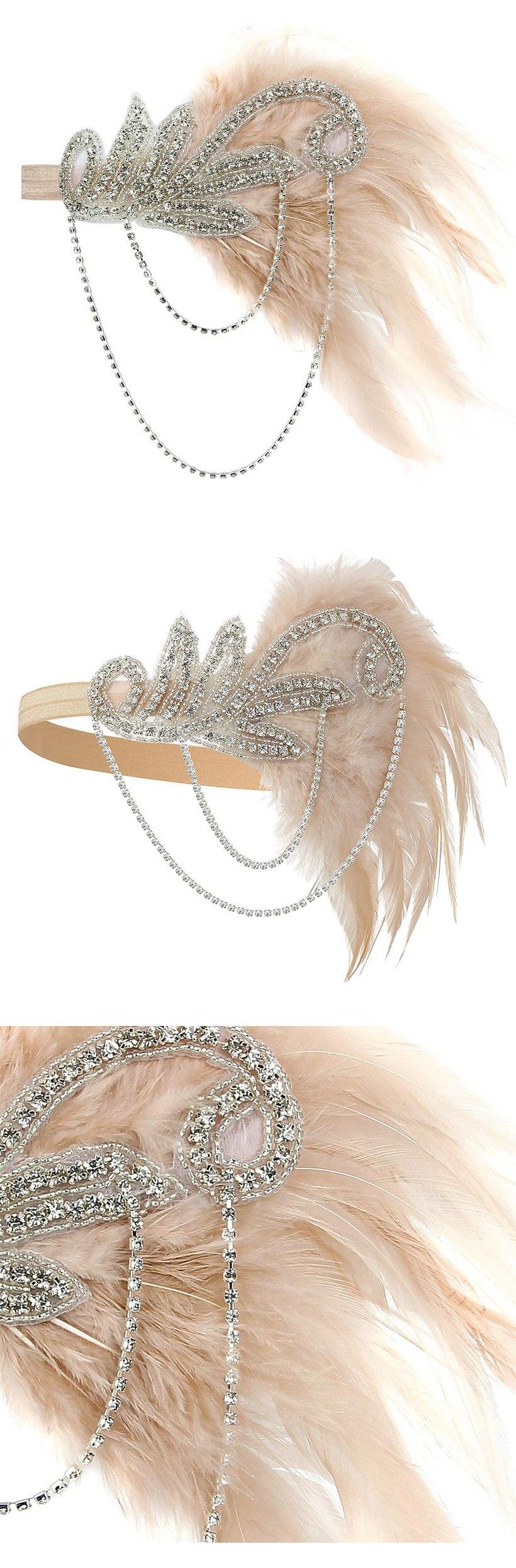 20s Headpiece Vintage 1920s Headband Flapper Great Gatsby (1)