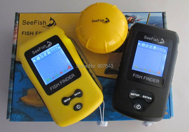 Portable Wireless Fish Finder Sonar Colorful Display ice Alarm Outdoor fishing fishfinder 40 Meters Range TL86 FreeShipping