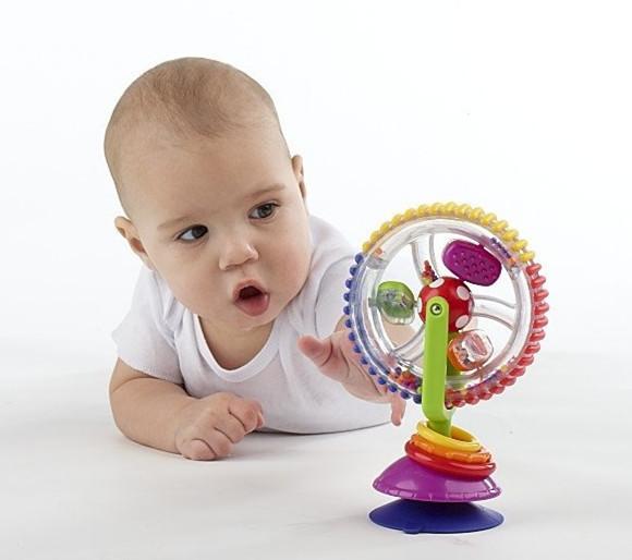 Água jogo De Roda moinho de vento Bebê infantil Multi-touch Inspirar Os Sentidos Brinquedo divertido chuveiro do banheiro Lavagem Com água do banho roda gigante brinquedo de presente