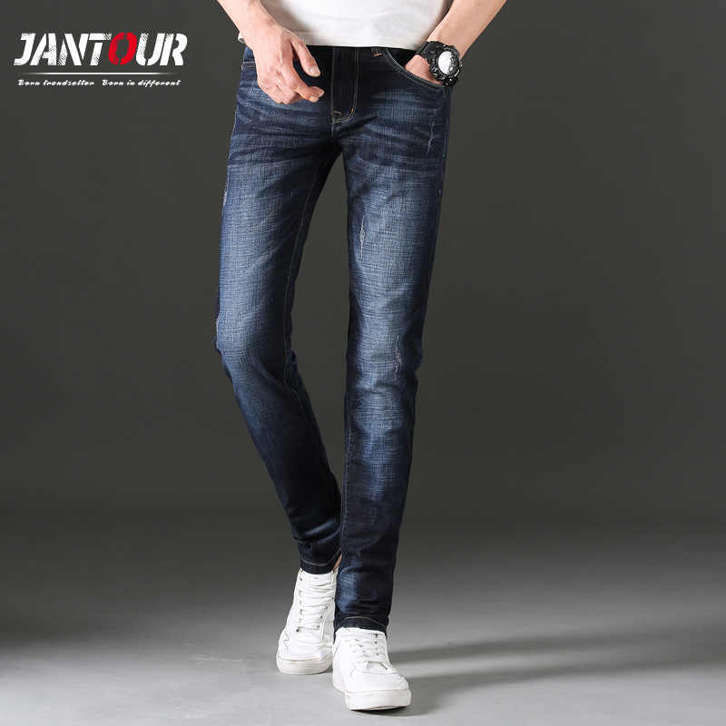 Vaqueros de marca famosa para hombre, pantalones largos casuales de calidad para hombre, ajustados, rectos, elásticos, para hombre, envío gratis vender