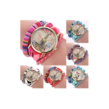 Paris Eiffel Tower Fashion Watch Weave Braid Band Quartz Wrist Watch Faddist Sleek for Women Gift