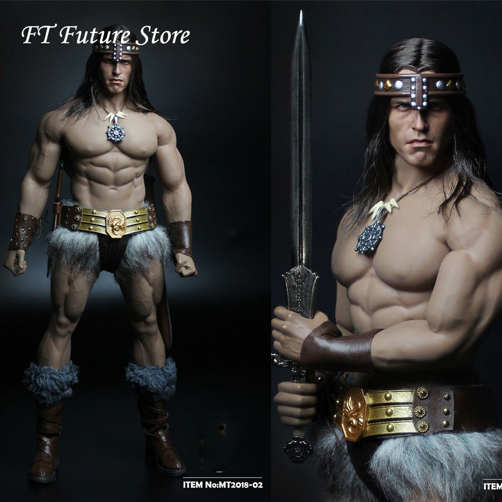 In Stock Collectible MT2018 02 1 6 Soldier Conan Head Carving Costume Group Ano Edition Model