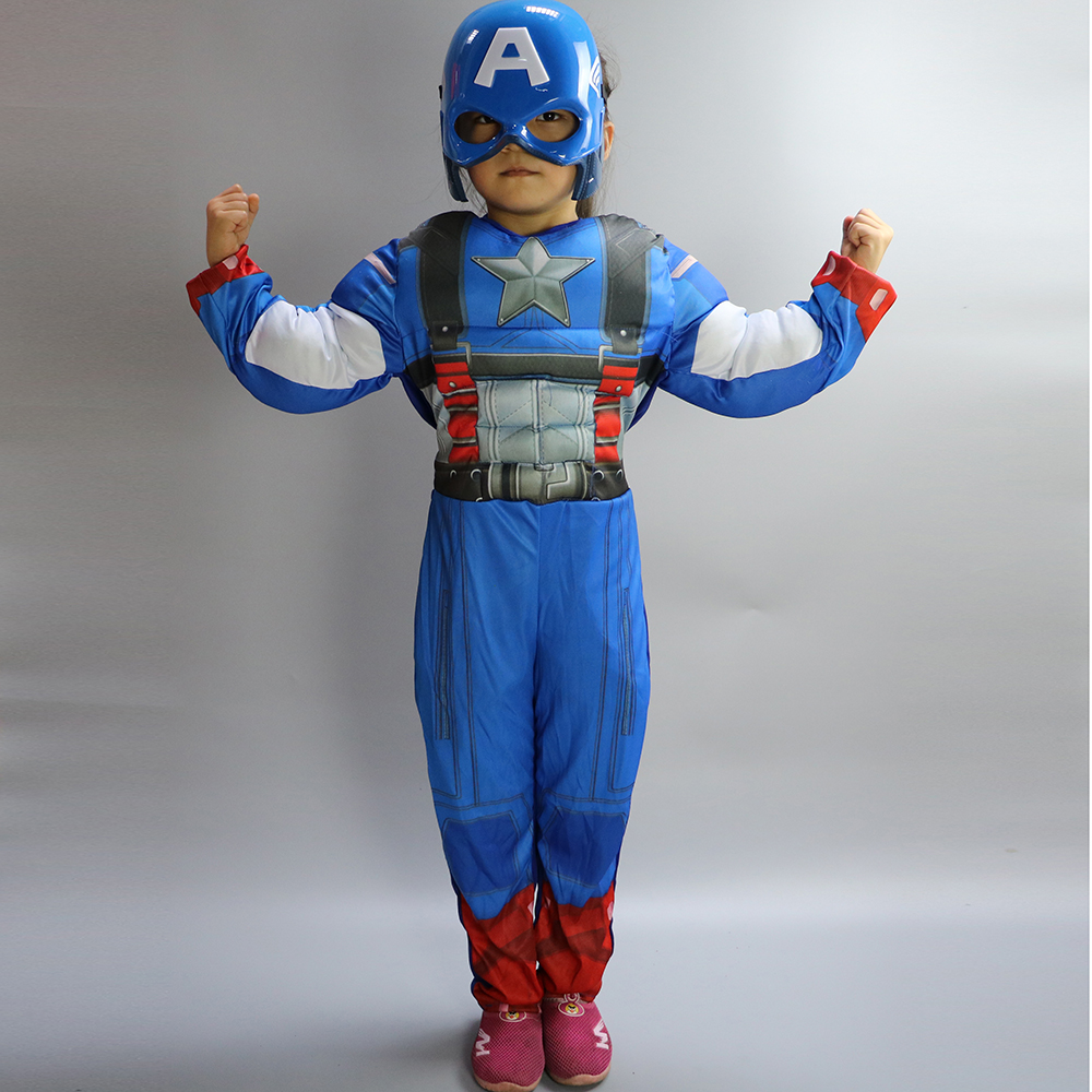 Aliexpress.com  Buy Free shipping!!Classic Muscle Captain America Costume Boys Kids Halloween Carnival Costume (Jumpsuit+mask) from Reliable halloween costume women ideas suppliers on Mystery Costumes