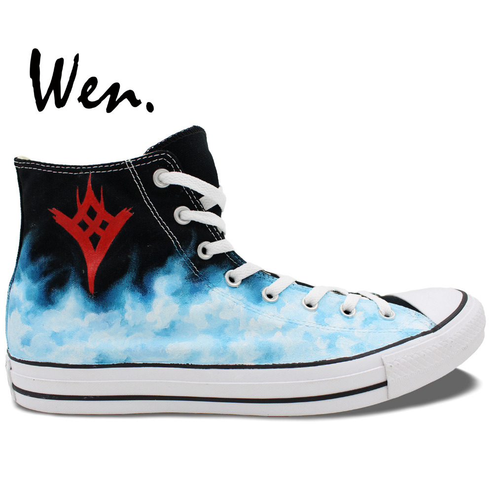 Wen Hand Painted Sneakers Design Custom Destiny The Taken King  High Top Man Woman Canvas Shoes Birthday Gifts