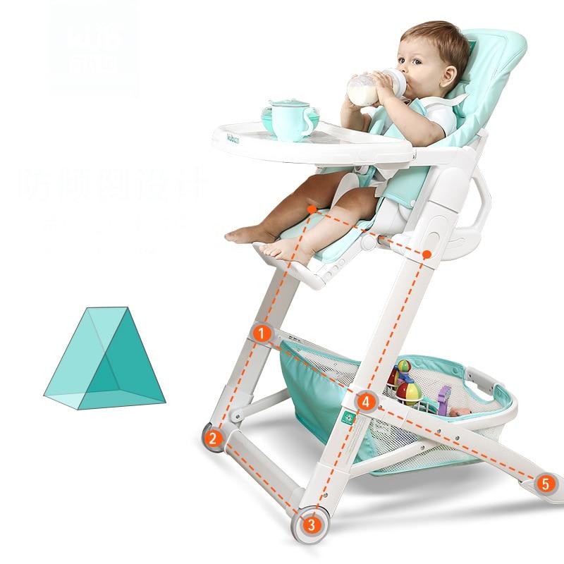 Bebé sillas altas bebé multifuncional portátil plegable mesas de ...
