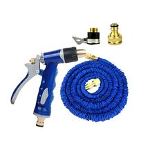 Full Copper Fittings Household Telescopic Pipe Watering Hose Pipe Portable Washing Device 15m