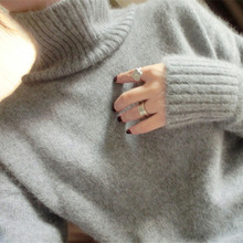 2019 New Autumn And Winter Thickening Cashmere Sweater Women's Long Neck Turtleneck Jacket Thickened Sleeves Loose Free shipping 2019 new style european and american autumn and winter thickening cashmere sweater women s sleeves top collar short sleeves