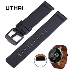 UTHAI Z18 Genuine Leather Watchband 22mm for Samsung Gear S3 Classic Frontier Gear 2 Neo Live Watch Band 20mm For moto360 II G