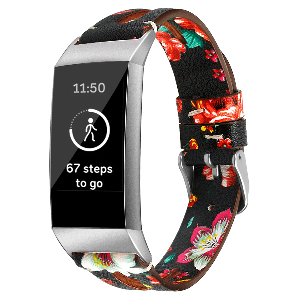 LXsmart New Fashion Leather strap For Fitbit Charge 4/3 band sport Smart Watch replacement Bracelet Belt wristband watch band 4
