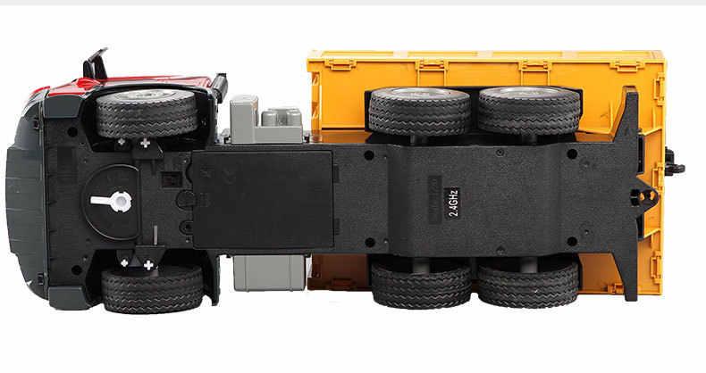 Baru Truk RC 1/20 2.4 GHz Kendaraan Rekayasa Besar Crane Remote Control Derek Simulasi Ambil Kayu Mesin Model Mainan