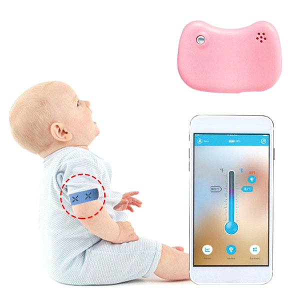 Baby Smart Wear Wireless Thermometer Smart Bracelet Bluetooth Monitor Fever Thermometer High Temperature Alarm Smart Thermometer