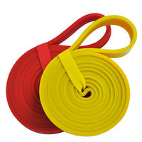 1 unids LT005 banda de tensión resistencia entrenamiento cinturón de goma cinturón elástico ayudar cinta látex rojo/amarillo