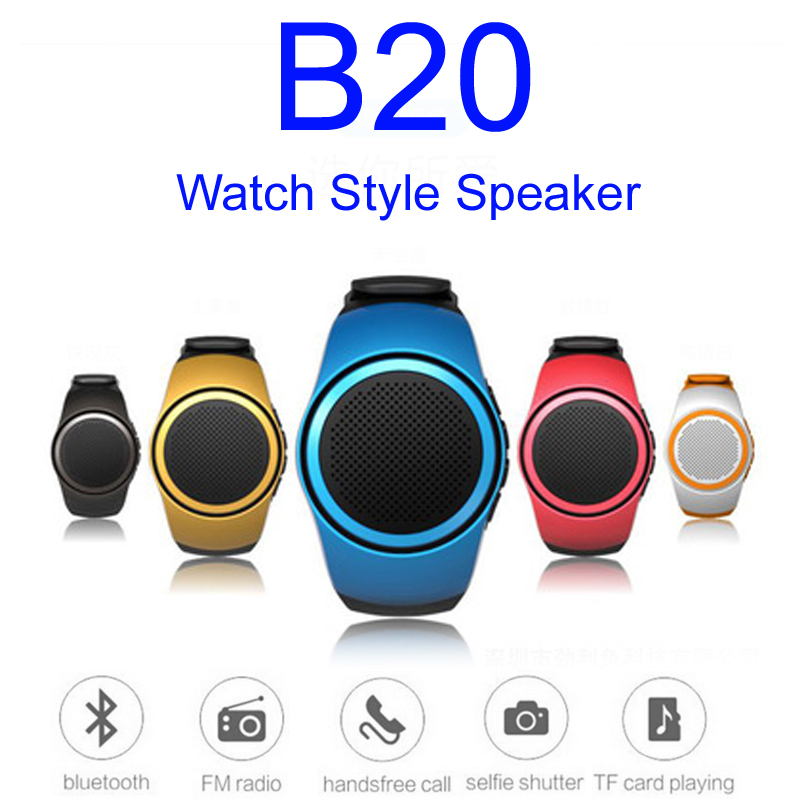 B20 Wireless Sports Music Watch Style Speakers Portable Mini Bluetooth 2.1+EDR Sport Speaker TF FM Audio Radio Handsfree Wrist