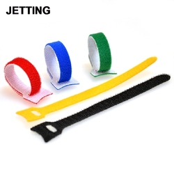 10x Nylon Sticky Cable Ties Wire Strap cord Wrap Fastening Organizer Management Magic Sticky Self Adhesive Hooks & Loops Tape
