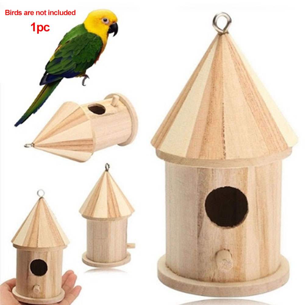 Bird Cages & Nests Pet Products 2019 Latest Design Bird Cage Exquisite Heart Shape Aspen Wood Craft Garden Hanging Nest Outdoor Diy Cabin Design Durable Decoration Easy Install Cool In Summer And Warm In Winter