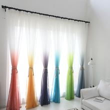 Tulle Curtains 3d Printed Kitchen Decorations Window Treatments American Living Room Divider Sheer Voile curtain Single Panel