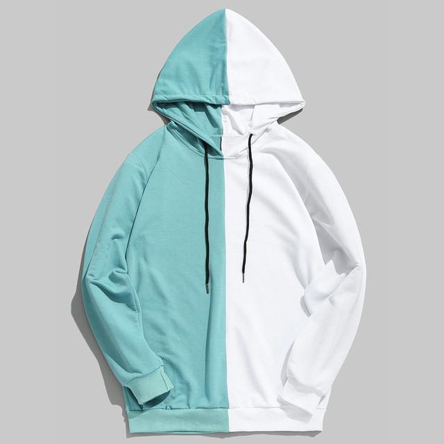 2019 Hoodie Sweatshirt Brand Men Casual Patchwork Slim Fit Hoodie Outwear Hip Hop Hood Sweatshirts for Male Sweatshirts Clothes