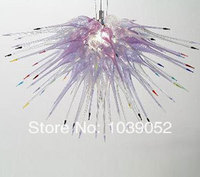 Art Glass Lighting Amber Glass Bohemian Crystal Chandelier