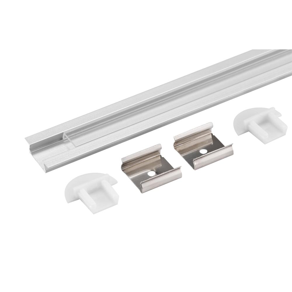 60m (30pcs) o mulțime, 2m per bucată profil de aluminiu anodizat - Iluminat cu LED