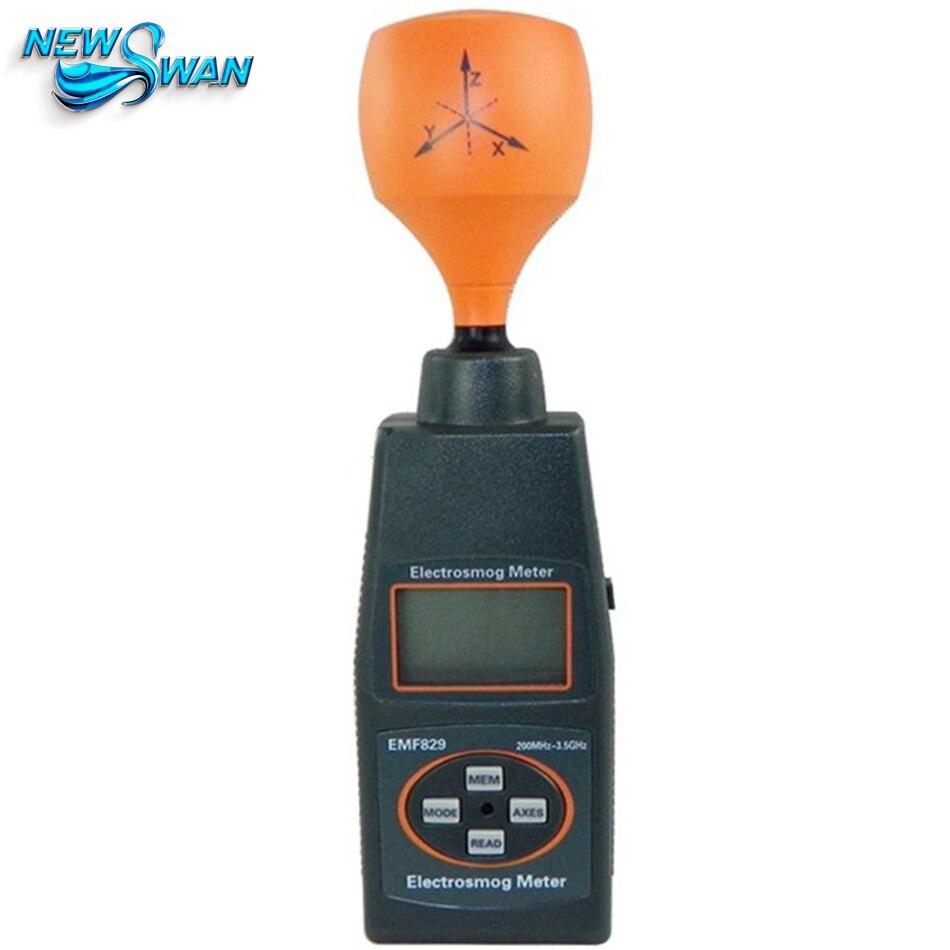 Emf829 профессиональная цифровая electrosmog метр Портативный agnetic высокая частота поле интенсивность метр индикатором ЭДС тестер PAC