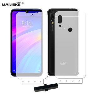 Image 1 - 6D Front+Back Soft Hydrogel Film For Xiaomi Mi 9 se 8 mi 9t Mix 2S Redmi 9c 9 8 7 note 8 pro K20 pro note 7 pro Screen Protector