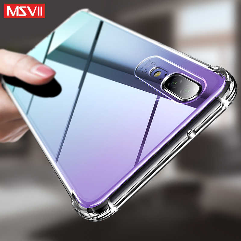 MSVII Clear silicone Case For huawei P10 P20 P30 Lite Plus mate 20 pro 20X X Nova 3 3I 4 4E Honor 8X 10 view 20 Y9 2019 Y6 Cover