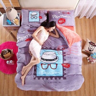King Size 3d Ensemble De Literie 3d Lit Literie En Lin Coton Drap