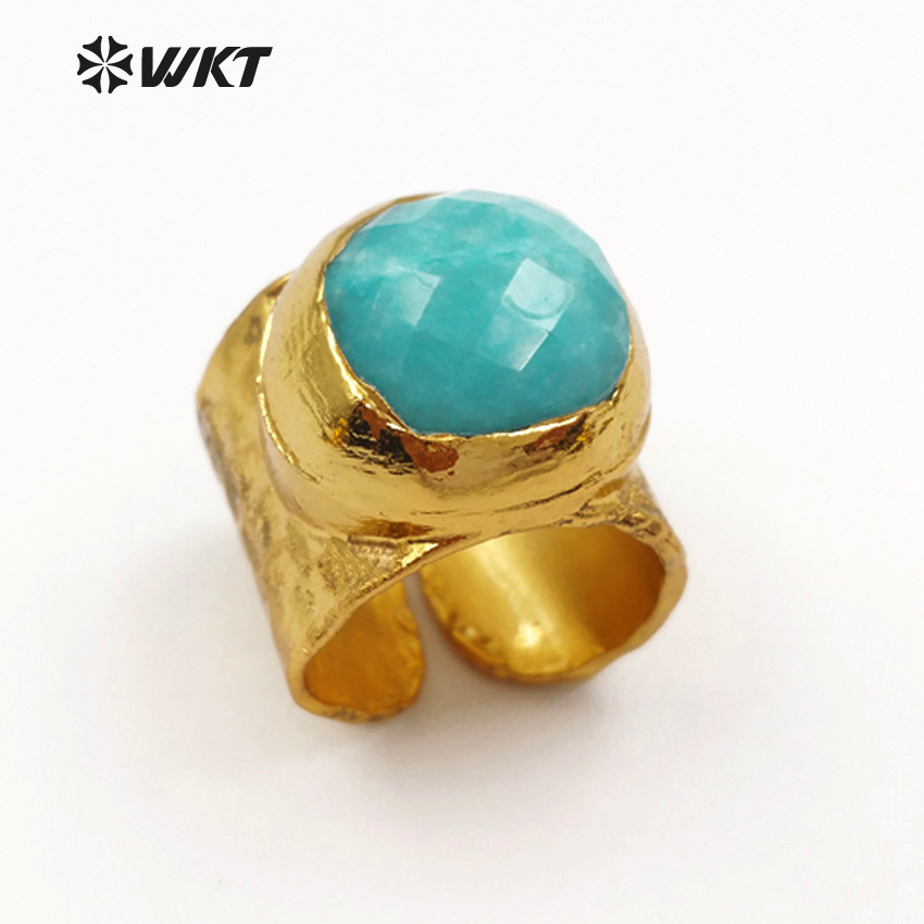 WT-R301 Wholesale High Quality Design Custom Beautiful and colorful matte stone ring Classic feminine for sexy Girl jewelry