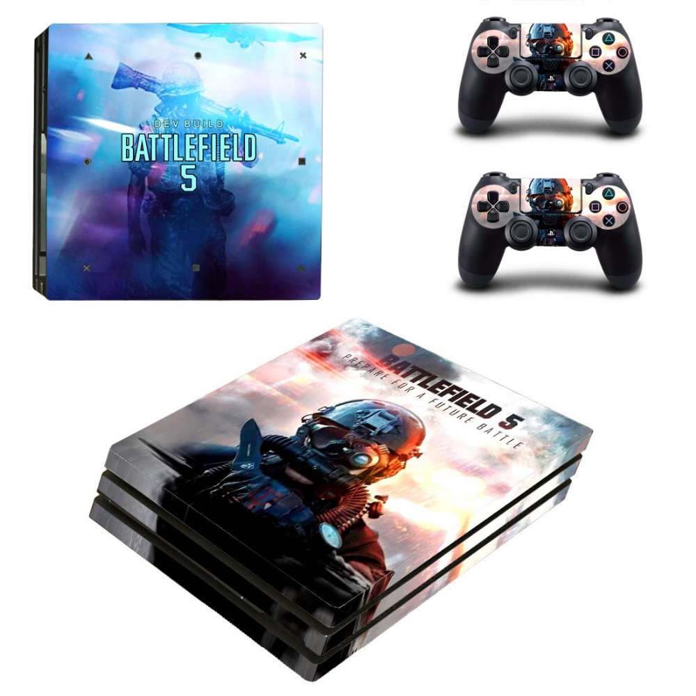 Game Battlefield 5 V PS4 Pro Skin Sticker Decal for PlayStation 4 Console and 2 Controllers PS4 Pro Skin Sticker Vinyl