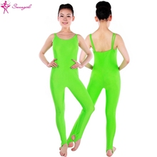 women double cami stirrup ballet unitards,dance unitards for gilrs,dance pants SD4040