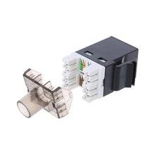 2 шт. UTP CAT6 сетевой модуль RJ45 разъём кабельный переходник Keystone Jack