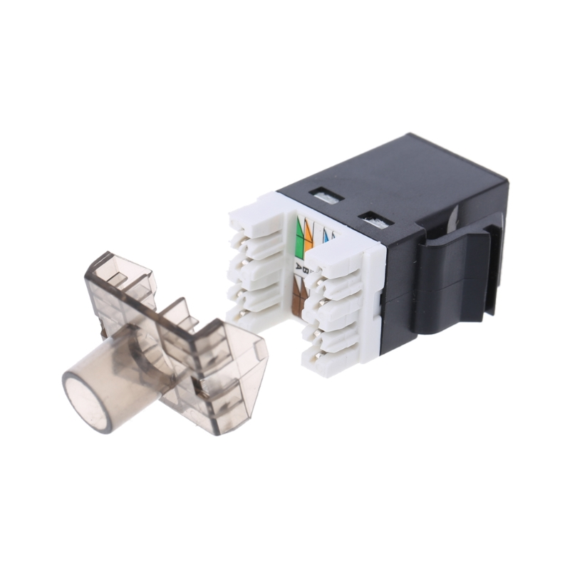 2Pcs UTP CAT6 Network Module RJ45 Connector Cable Adapter Keystone Jack
