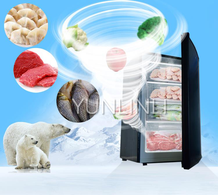 102L Vertical Type Freezers Commercial/ Household Freezing Machine With Large Capacity Quick-Freezing Drawer Freezer BD-102 silicone quick freezing ice bucket
