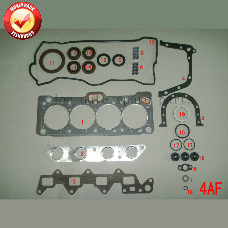 4AF 4AFE Engine complete Full gasket set kit for Toyota Corolla/Carina/CELICA 1587cc 1.6L 1987-1993 автоброня 111 05761 1 toyota celica 1993 1999 2 0