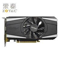 ZOTAC Original GTX1050 2GD5 Thunder GPU Video Card 128Bit GP107 GTX 1050 2GB GDDR5 Graphics Cards Map Geforce GTX 1050 Used