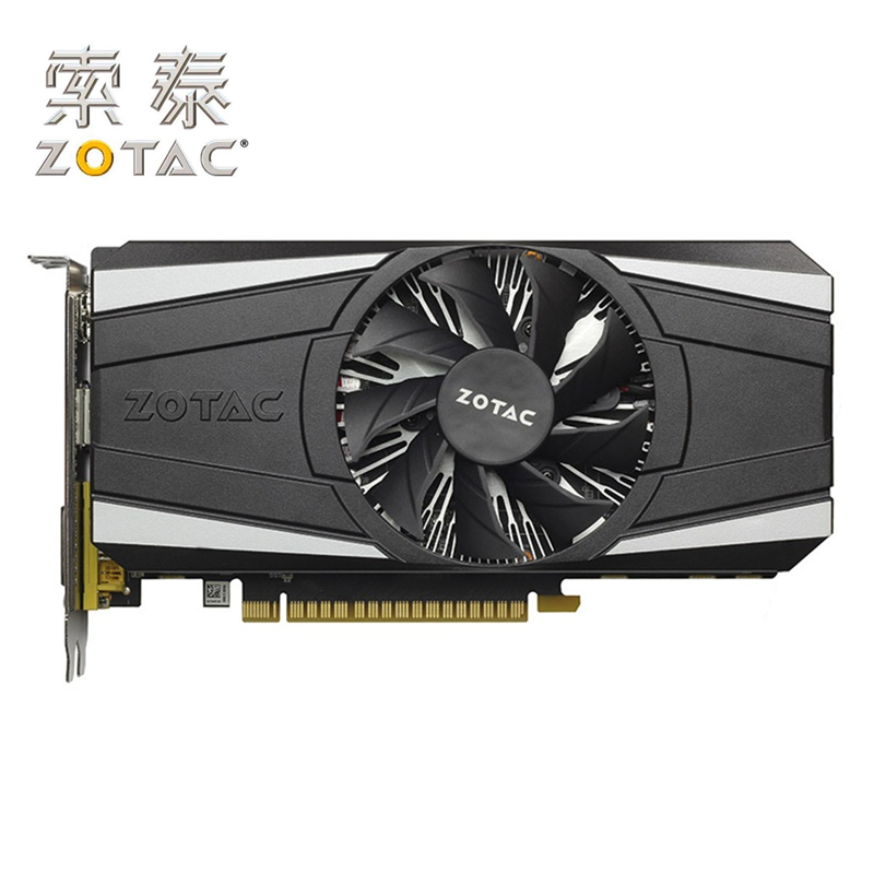 ZOTAC Original GTX1050-2GD5 Thunder GPU Video Card 128Bit GP107 GTX 1050 2GB GDDR5 Graphics Cards Map Geforce GTX 1050 Used