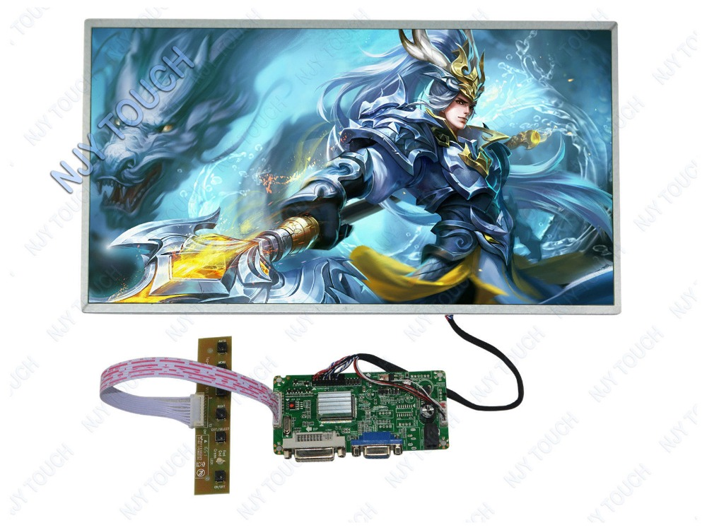 New arrival DVI DVA LCD Controller Board LVDS DIY Kit Plus 15.6 LP156WH4 1366x768 Screen high quality epiaex15000lg board embedded epia ex mainboard 17cmx17cm onboard gigabit ethernet dvi output lvds new