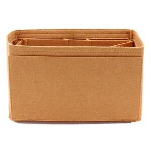 Image 3 - Hızlı 25 30 35 keçe bez eklemek çanta düzenleyici haki makyaj çanta şekillendirici organizatör seyahat iç çanta taşınabilir kozmetik çantaları