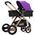 Детская коляска может сидеть может лежать коляску пейзаж супер портативный складные тележки автокресла