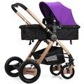 Cochecito de bebé puede sentarse puede mentir cochecito de bebé alta paisaje súper portátil plegable carritos de coche de bebé